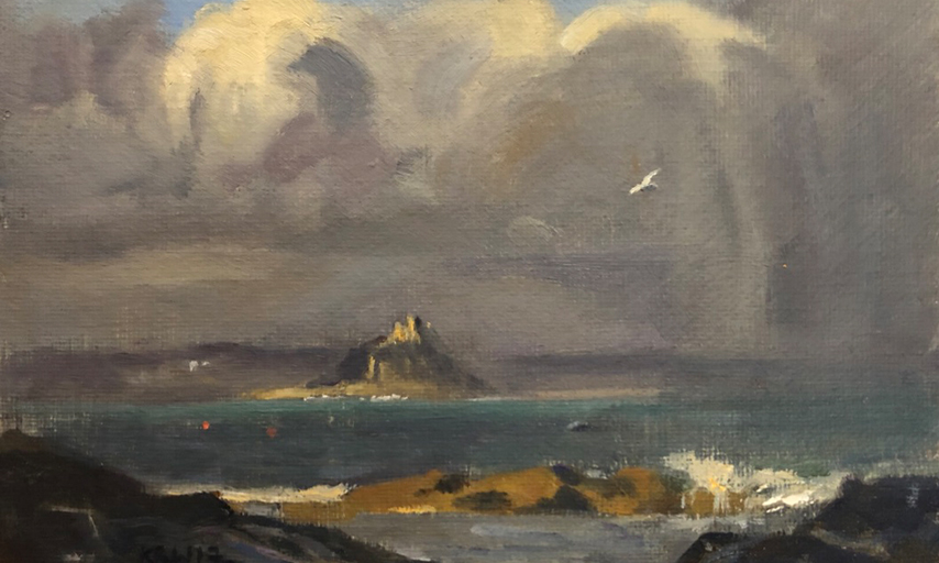 STORM APPROACHING ST MICHAELS MOUNT