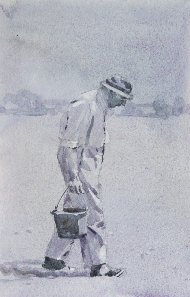 MONOCHROME STUDY OF FARMER