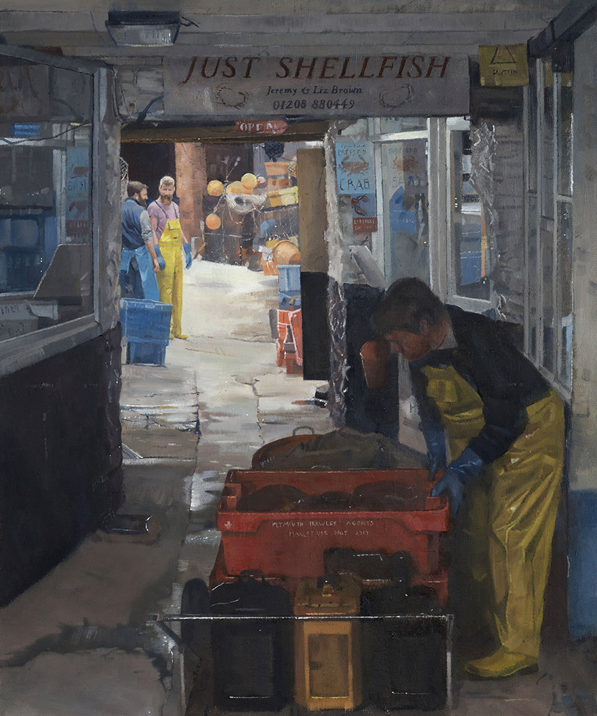 Kieron Williamson - Just Shellfish painting