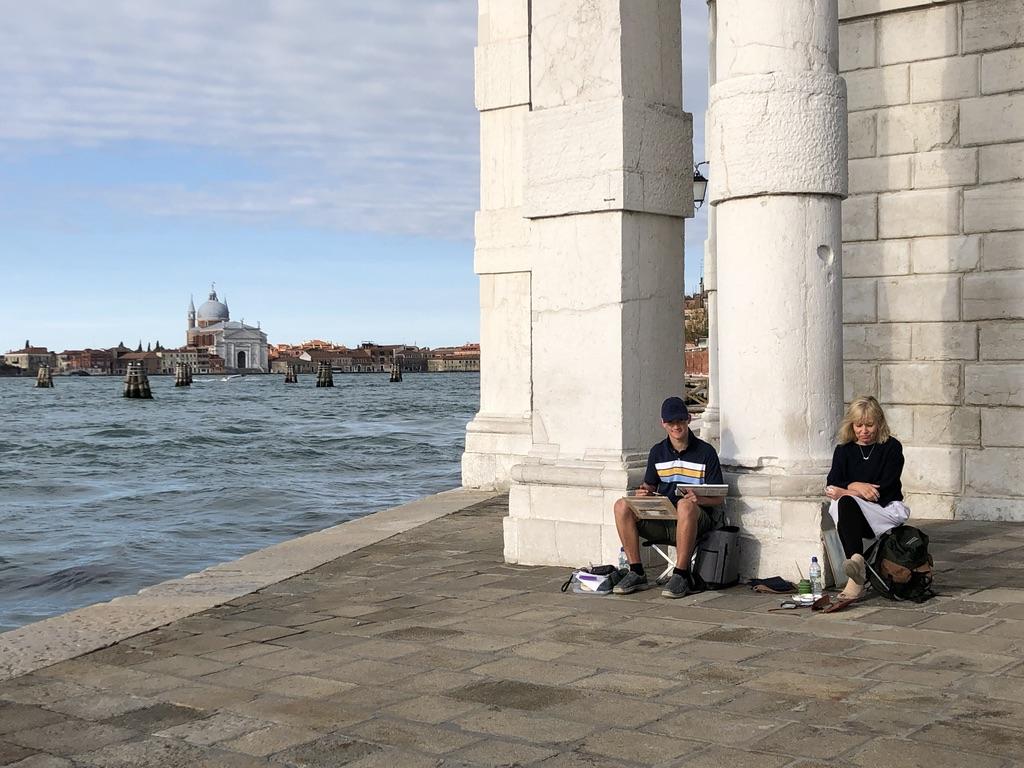 Kieron and Barbara in Venice
