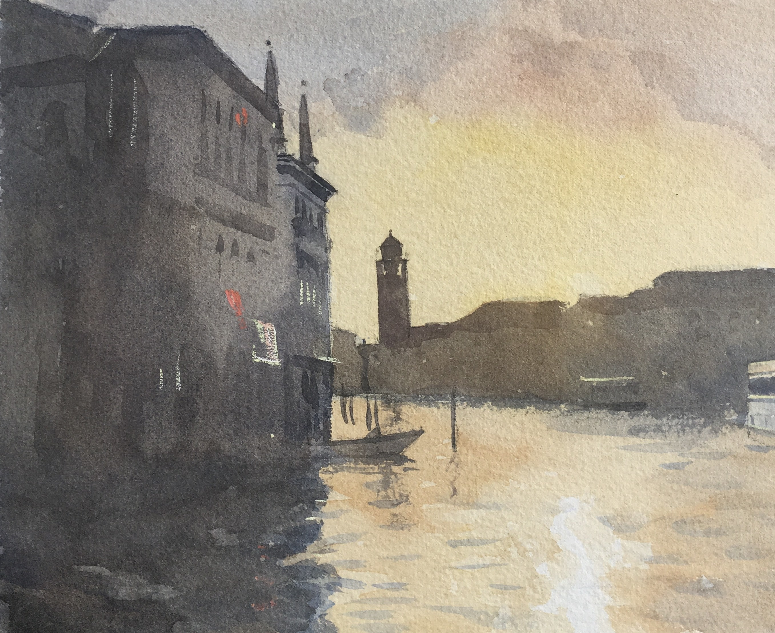 evening-on-the-canal-7.5-x-9.5-watercolour